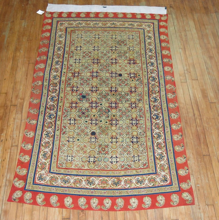 Antique Persian Rashti 'Rascht' Embroidery, 19th Century For Sale 1