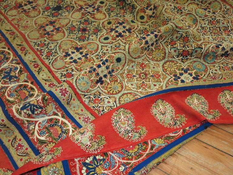 Antique Persian Rashti 'Rascht' Embroidery, 19th Century For Sale 2