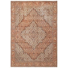 Antique Persian Room Size Tabriz Rug. Size: 7 ft 1 in x 10 ft 3 in