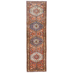Antique Persian Rug Azerbaijan Design with Nature-Inspired Patterns, circa 1960s