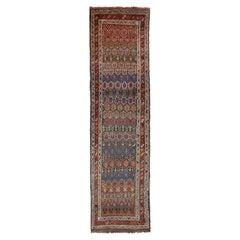 Antique Persian Rug Azerbaijan Design with Vibrant Tribal Patterns, circa 1920s