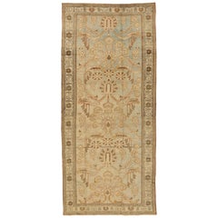 Antique Persian Rug Bakhtiar Style with Floral Design, circa 1940s