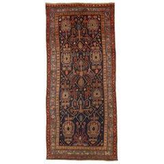 Antique Persian Rug Bijar Design with Prolific Tribal Patterns, circa 1910s