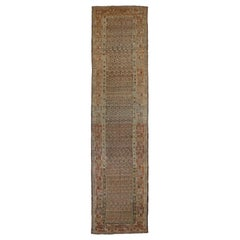 Antique Persian Rug Bijar Style with Elegant Native Patterns, circa 1920s