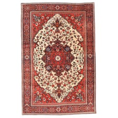 Antique Persian Rug Farahan Sarouk Hand Knotted, circa 1890