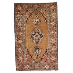 Antique Persian Rug Hamedan Design with Large Central Medallions Pattern