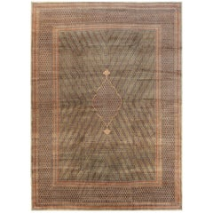 Antique Persian Rug Handwoven in the 1920s Using the Finest Wool & the Best Dye