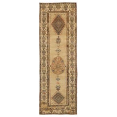 Antique Persian Rug in Sarab Design with Vivid Border Details, circa 1910s