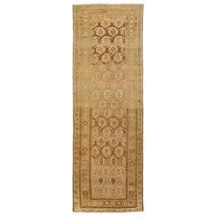 Antique Persian Rug Kurdish Style with Fine Geometric Patterns, circa 1920s