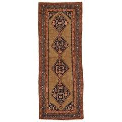 Antique Persian Rug Malayer Design with Fine Geometric Patterns, circa 1920s