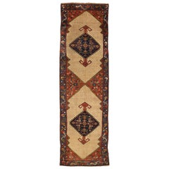 Antique Persian Rug Malayer Design with Fine Tribal Details, circa 1920s