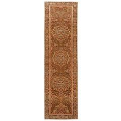 Antique Persian Rug Malayer Design with Mesmerizing Geometric Details circa 1920