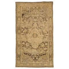 Antique Persian Rug Malayer Design with Rustic Floral Patterns, circa 1920s