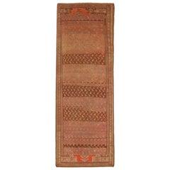 Antique Persian Rug Meshkin Design with Stylish Fading Patterns, circa 1920s