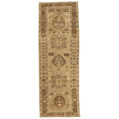 Antique Persian Rug Saisan Style with Unique Geometric Patterns, circa 1950s