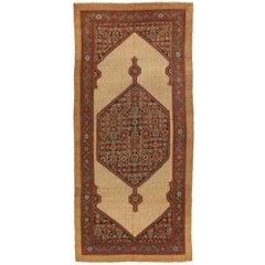 Antique Persian Rug Sarab Design from Fine Camel Hair, circa 1920s