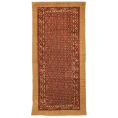 Antique Persian Rug Sarab Design Made of Fine Camel Hair, circa 1920s