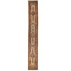 Antique Persian Rug Sarab Design with Fine Geometric Details, circa 1920s