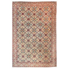 Antique Persian Rug Tehran, Hand Knotted, circa 1920