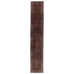 Antique Persian Runner Rug Bijar Design