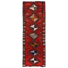 Antique Persian Runner Rug Gabbeh Design