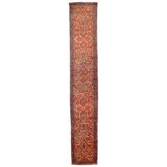 Antique Persian Runner Rug Hamedan Design