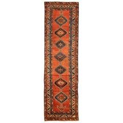 Antique Persian Runner Rug Heriz Design