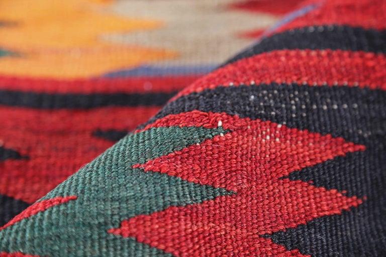 20th Century Antique Persian Runner Rug Kilim Design For Sale