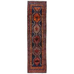 Antique Persian Runner Rug Kurdish Design