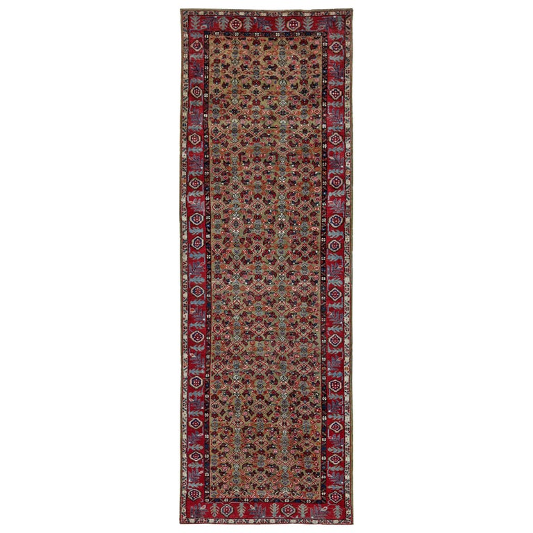 Antique Persian Runner Rug Sultanabad Design For Sale