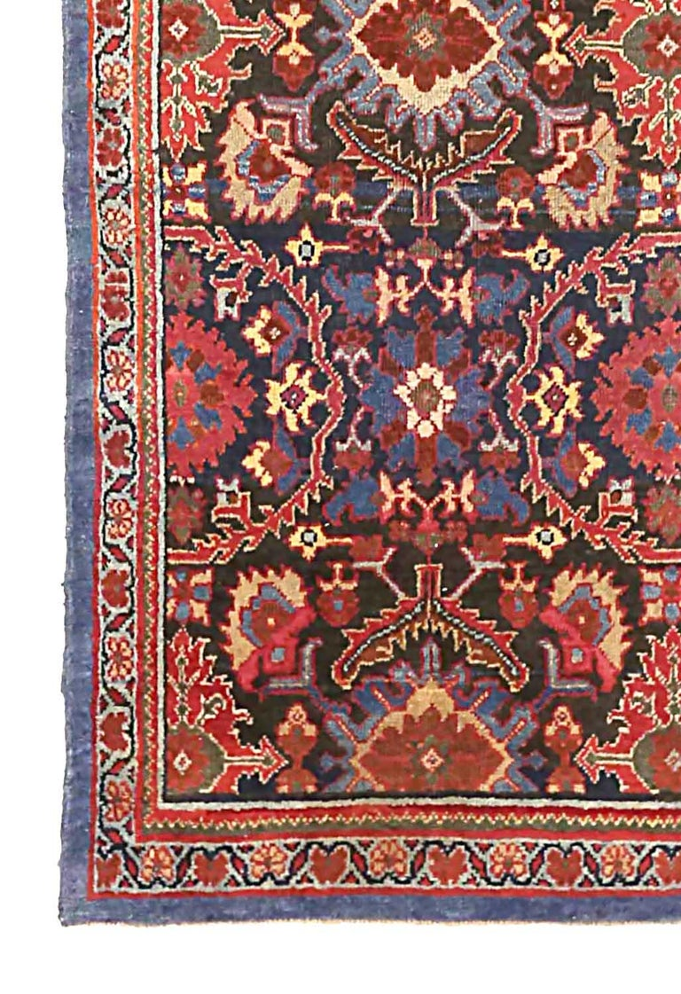 Hand-Woven Antique Persian Runner Rug Sultanabad Design For Sale