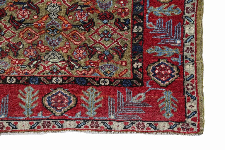 20th Century Antique Persian Runner Rug Sultanabad Design For Sale
