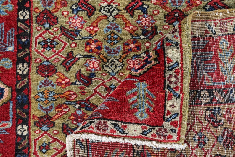 Antique Persian Runner Rug Sultanabad Design For Sale 1