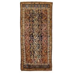 Antique Persian Runner Rug Zanjan Design