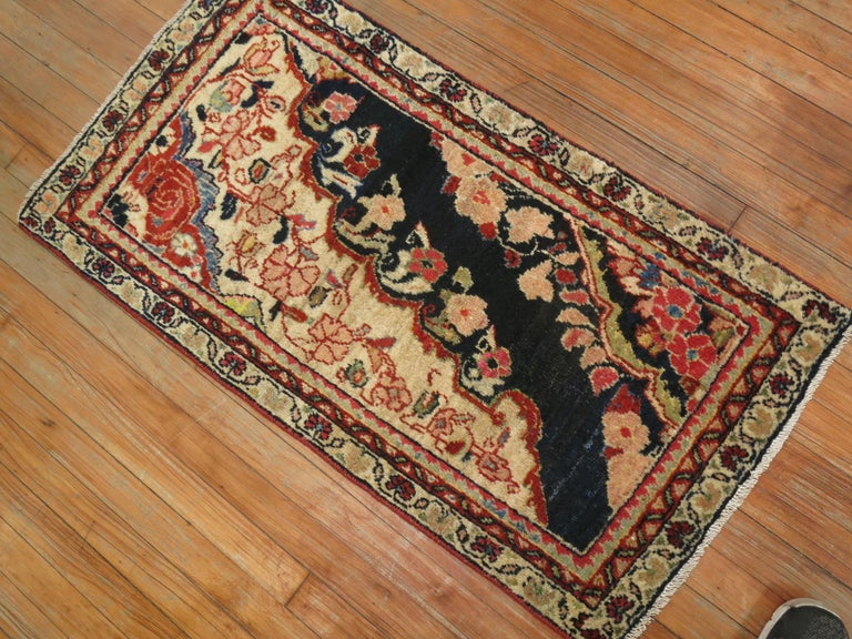 Exquisite early 20th century rare Persian Mahal Sampler rug.