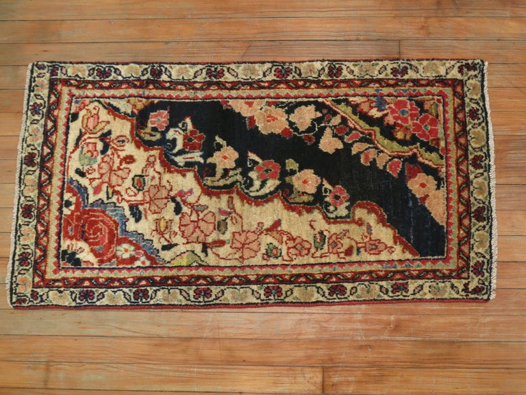 Sultanabad Antique Persian Sampler Rug For Sale