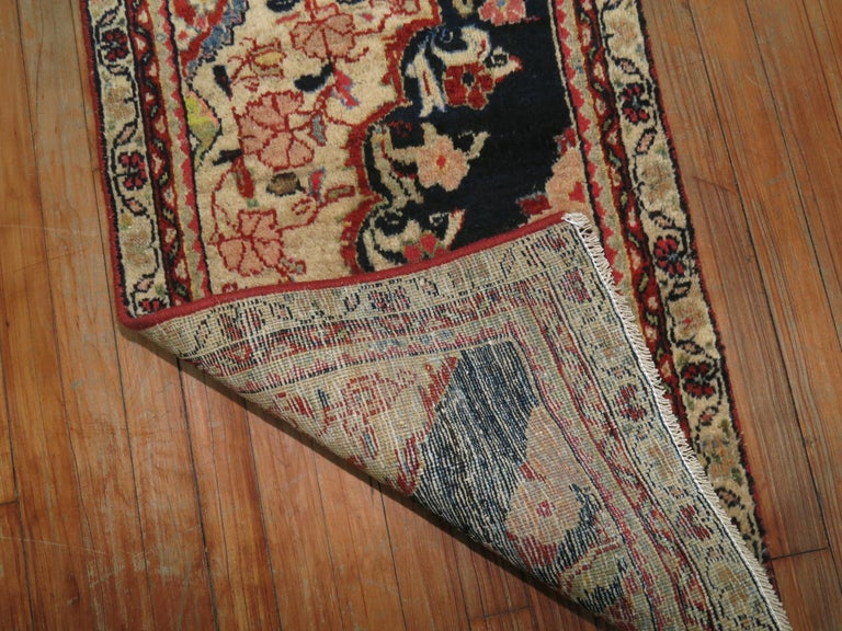 Hand-Woven Antique Persian Sampler Rug For Sale