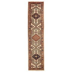 Antique Persian Sarab Rug with Incredibly Detailed Tribal Design, circa 1950s