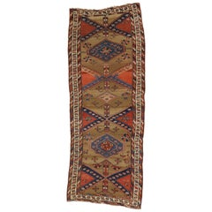 Antique Persian Sarab Runner, Tribal Style Hallway Runner