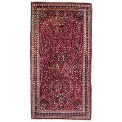 Antique Persian Sarouk Accent Rug