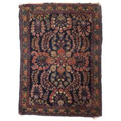 Antique Persian Sarouk Accent Rug, Small Persian Rug