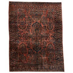 Antique Persian Sarouk Art Nouveau Rug
