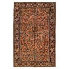 Antique Persian Sarouk Carpet, circa 1920s