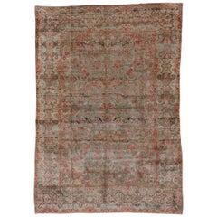 Antique Persian Sarouk Carpet