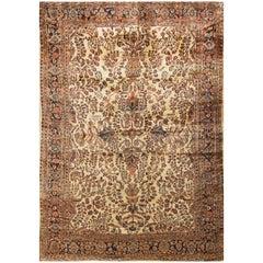 Antique Persian Sarouk Rug Circa 1900