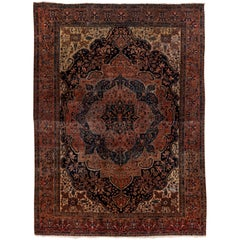 Antique Persian Sarouk Farahan Carpet, circa 1900s