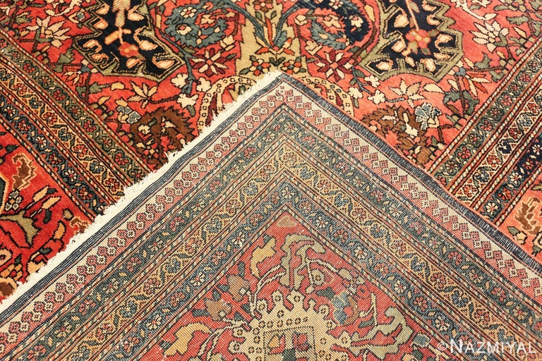 Late 19th Century Antique Persian Sarouk Farahan Rug For Sale