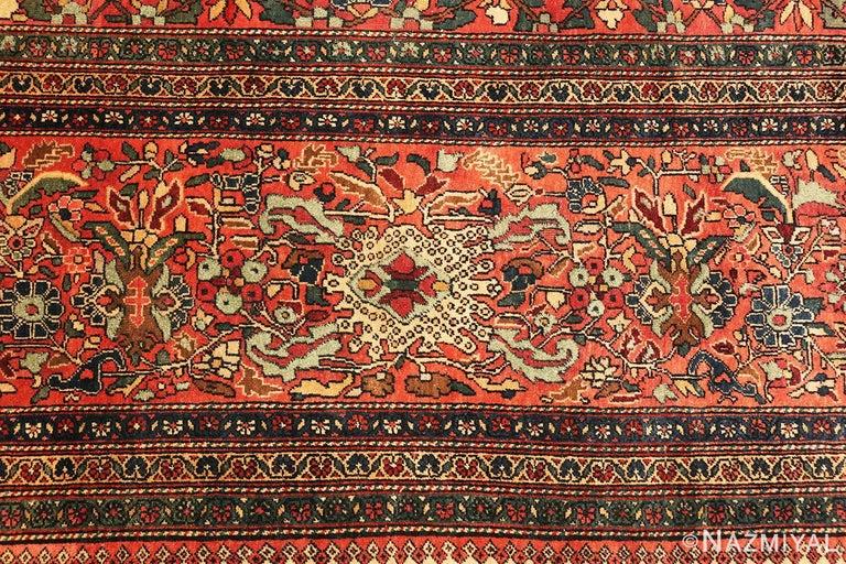 Wool Antique Persian Sarouk Farahan Rug For Sale