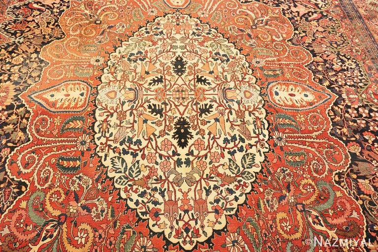 Antique Persian Sarouk Farahan Rug For Sale 1
