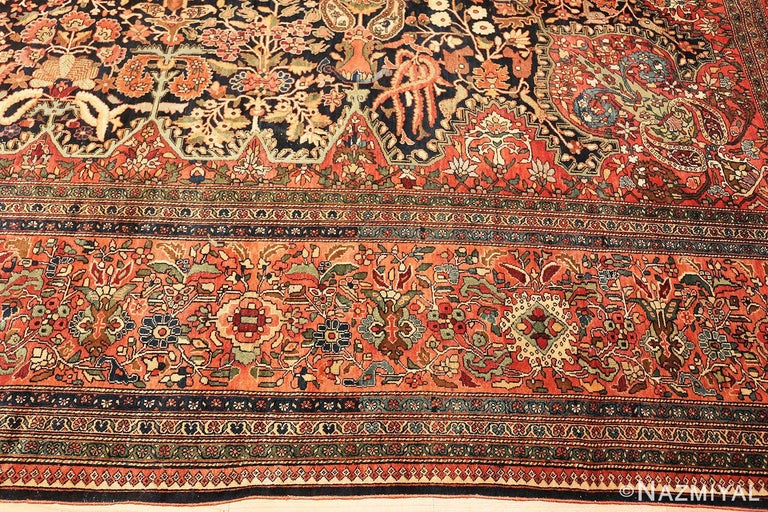 Antique Persian Sarouk Farahan Rug For Sale 2